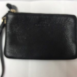 Coach Polished Pebble Leather Small Wristlet